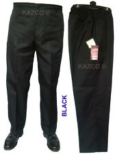 """Mens Elasticated Waist Trousers 32""""-60"""" Waist. New Smart Elastic Rugby Trousers."""