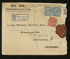 GB Kg5 1917 REGIO LOTTO 2 1 / 2D Milky Blue X 2 reg.cover.. WAR ufficio censurare Seal