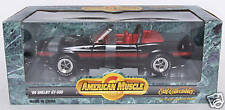 1969 SHELBY MUSTANG GT 500 BLACK CONVERTIBLE 1:18 SCALE New in Box Free Shipping