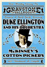 Duke Ellington at Graystone Ballroom Detroit Concert Poster 1933