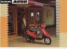 1990 SUZUKI AE50 2 page Motorcycle Brochure NCS