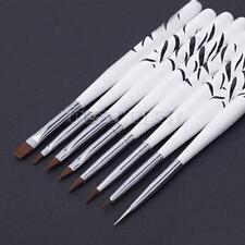 8 X Brosse Pinceau Stylo Ongle Nail Art pour Décoration Gel UV Professionnel