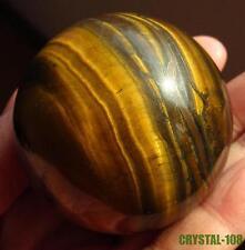 100% naturel vrai oeil de tigre cristal sphère boule, Taille: 50mm