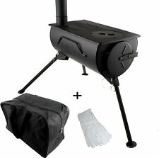 Camping Stove Portable Wood Burning Cooker Heater Fireplace Carry Bag