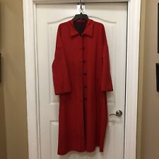 Women's Rain Trench Coat Oversized Long Red
