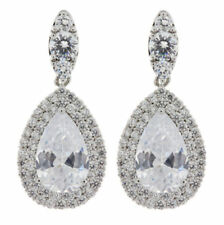 Pear Stone Clip - On Costume Earrings