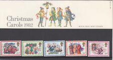 GB 1982 Navidad presentación Pack 140 SG 1202 1206 conjunto de sello de menta