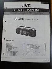 Original Service Manual  JVC RC-W44