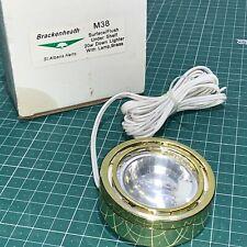 Brackenheath M38 Surface/Flush Under Shelf 20W Down Lighter with Lamp Brass