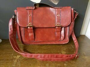 Red PVC Satchel Style Handbag / Shoulder Bag by Matalan