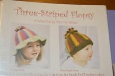 Three Stripes Flopsy Felted Hat  Knitting Pattern  Pick Up Sticks baby to adult