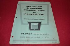 Oliver Tractor STH Spring Tooth Harrow Dealer's Parts Book Manual BVPA
