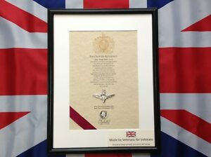 Parachute Regiment Oath Of Allegiance With Cap Badge