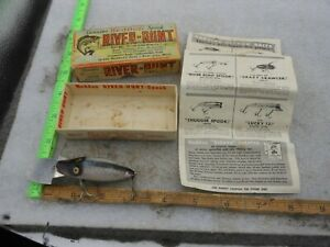 VINTAGE HEDDON RIVER RUNT SPOOK GO DEEPER IN BOX #9110-P FISHING LURE