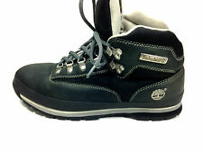 Timberland Distressed Black Leather Hiking Boots Style 56092 Size:9.5USA