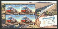 AUSTRALIA 2020 CANBERRA STAMP SHOW (RAILWAY) SOUVENIR SHEET OF 4 STAMPS IN MINT