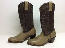 WOMENS UNBRANDED COWBOY LEATHER SAND BOOTS SIZE 7.5 B