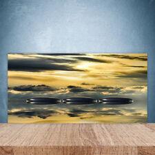 Kitchen Splashback 100x50 Tempered Glass Water Art