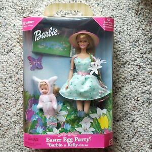 1999 EASTER EGG PARTY Target BARBIE & KELLY GIFT SET #25790 NRFB