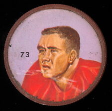 1963 CFL NALLEY'S FOOTBALL COIN #73 DICK SCHNELL MONTREAL ALOUETTES UNIV WYOMING