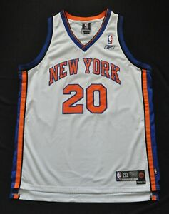 ALLAN HOUSTON NEW YORK KNICKS NY WHITE REEBOK JERSEY SWINGMAN SEWN MEN 2XL