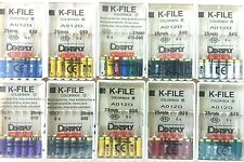 Dentsply Maillefer K-File Endodontic Dental Files 10 Packs Assorted 25mm