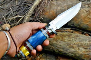 """Damascus Steel Hunting Knife Survival Tactical Fixed Blade Nordic Bone Handle 4"""""""