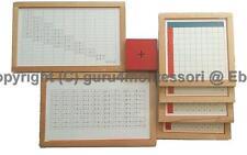 NEW Montessori Mathematics Material- Beechwood Addition Working Chart Group