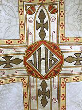 Chape Chasuble Liturgique Broderie Prêtre Aube Ancien 19