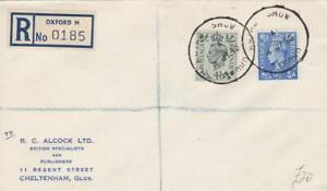 GB 1948 GEORGE V1  COVER ROYAL SHOW OXFORD 1950 TO ALCOCK - REGISTERED