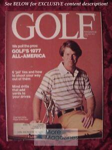 GOLF golfing magazine January 1978 TOM WATSON All America Team