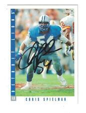 Chris Spielman AUTOGRAPH 1993 SCORE DETROIT LIONS FOOTBALL CARD SIGNED