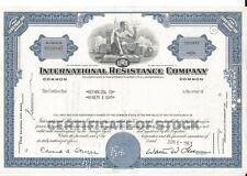 INTERNATIONAL RESISTANCE COMPANY.......1961 STOCK CERTIFICATE