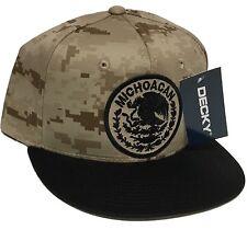 MICHOACAN  MEXICO LOGO FEDERAL HAT DIGITAL KHAKI BROWN BLACK SNAP BACK NEW HAT