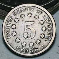 1869 Shield Nickel 5 Cents 5C Ungraded Civil War Era Good Details US Coin CC6651