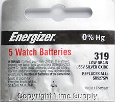 Batteries Sr527Sw Sr527 0% Hg 5 pcs 319 Energizer Watch