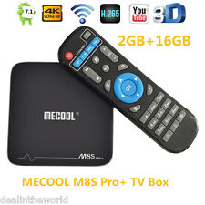MeCool M8s PRO + Smart TV Boîte 2.4GHz Wi-Fi 4K x 2K 2GB+16GB Quad âme