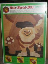 Vintage 1974 German Made Steeb Wood Inlay Elf Mushroom Hobby Craft Art Kit Gnome