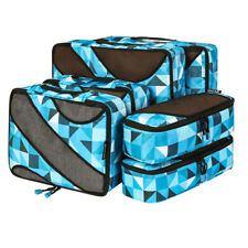AU 6 Set Travel Packing Cubes Storage Bag Clothes Luggage Organizer Packing Bags
