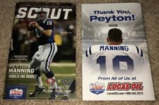 PEYTON MANNING GAME DAY PROGRAM RETIREMENT JERSEY STATUE INDIANAPOLIS COLTS