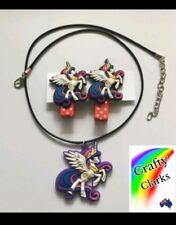 "My little pony Necklace + Hair Clip set ""Princess Celestia""  AU seller"