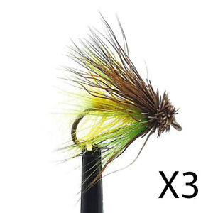 3 x Octopus Muddler Bumble Trout Flies - Size 12 - Trout Fly Fishing