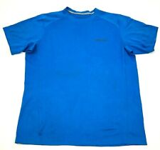 Columbia Chemise Taille L Adulte Bleu Manches Courtes Sec Fit T-Shirt Omni-Shade