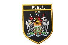 PRINCE EDWARD ISLAND Black Shield CANADA Prov. FLAG Iron-On PATCH CREST BADGE
