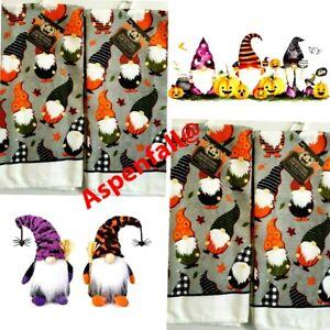 "Lot 4  Fall- Halloween -Thanksgiving Gnomes Kitchen Dish Towels 15"" x 25"""