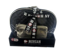 New Morgan Bag Purse Cosmetic IN BLACK AND GOLD