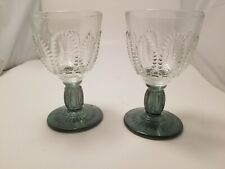 Vintage Avon Emerald Accent Cordial Glasses, Set of 2, new in box