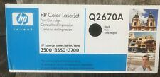 HP Color LaserJet Print Cartridge Q2670A BLACK 3500 3550 3700 New Unopened Box