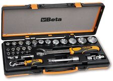 "Beta Set 22 chiavi bussola esagonali 1/4""+1/2"" 6 accessori con valigia 902A/C22"
