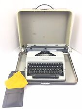 Vintage 1968 SM8 Deluxe Olympia Typewriter Wide Carriage w/ Case